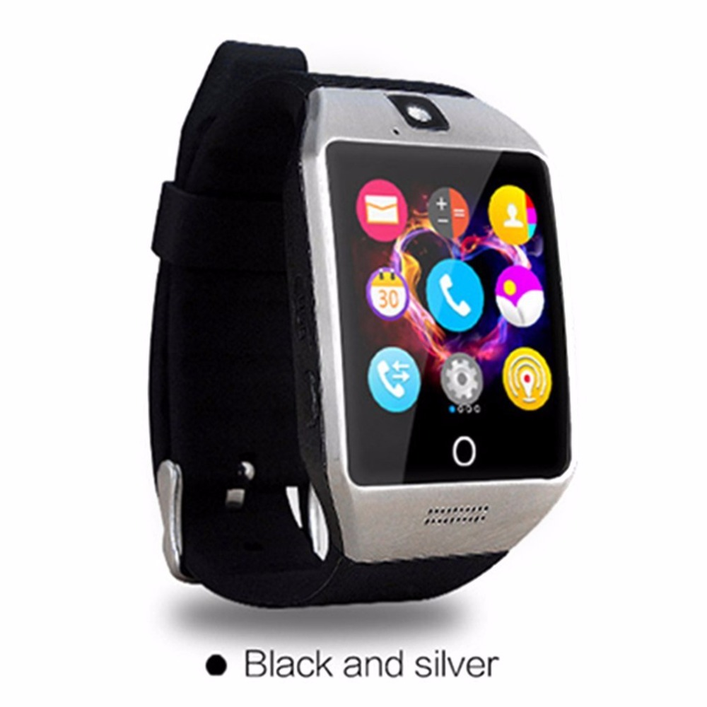 Smartch Bluetooth Smart Watch Q18S With Camera Facebook Whats App SMS Smartwatch Support SIM TF Card For IOS Android Phone image