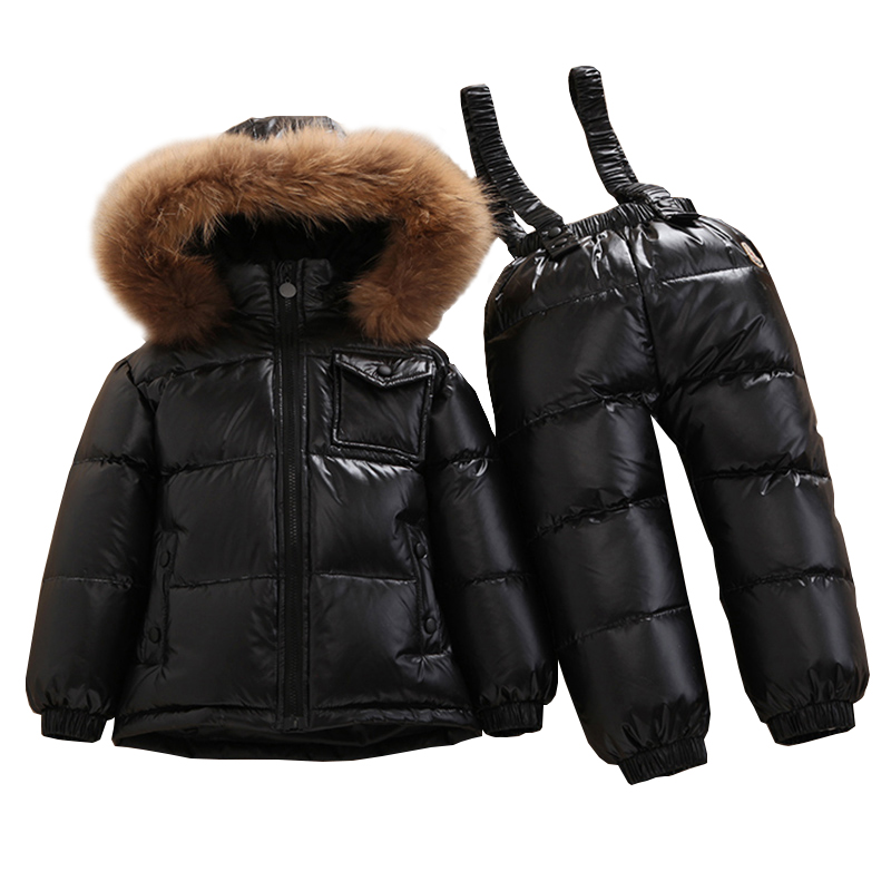 8b043253f 2019 Winter Children Clothing Sets Boys Girls Ski Suit Kids Sport ...
