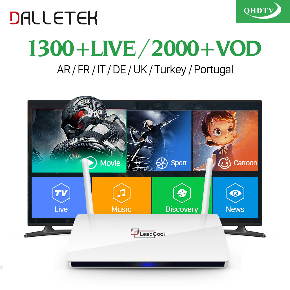 QHDTV CODE IPTV Box 1 Year Subscription Europe French Italia 1300 Channels and Dalletektv Android TV Box Arabic IPTV Top Box arabic iptv europe subscription 1 year qhdtv account 4k hd live sport channels iptv box android 6 0 tv box 2g 16g media player