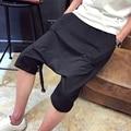 2017 summer Chinese style Drawstring Sweat Shorts cotton Mens Hip Hop Harem Shorts loose black board shorts size 5XL