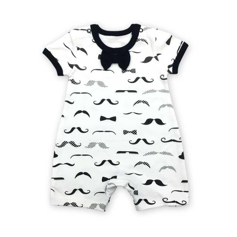 A Roupa do bebê Macacão Crianças Macacão de Recém-nascidos de Verão impressão de algodão de manga Curta Roupa Infantil Menina Menino 1 pcs 6-24months