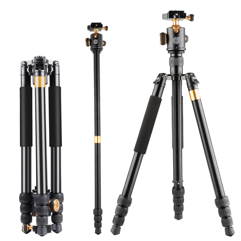 Moveski Q999B Professional Photographic Portable Tripod Monopod+Ball Head For Digital SLR DSLR Camera Fold 48cm Max Loading 8KG qingzhuangshidai qzsd q999 professional photographic portable tripod to monopod ball head for digital slr dslr camera fold 43cm