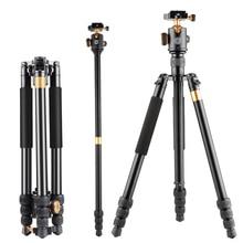 Moveski Q999B Professional Photographic Portable Tripod Monopod+Ball Head For Digital SLR DSLR Camera Fold 48cm Max Loading 8KG