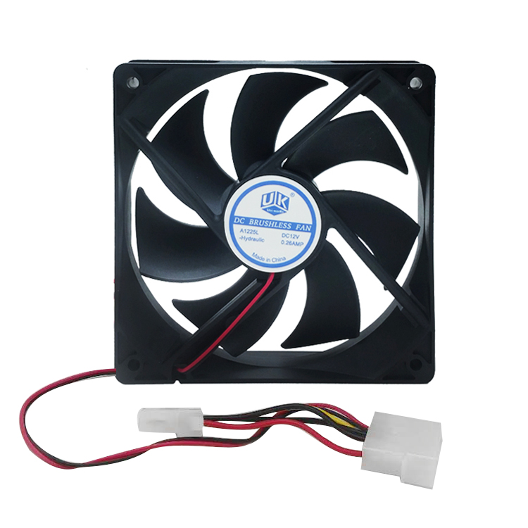 PC Computer Case 12025s 12cm 120mm 120x25mm DC 12V black 4Pin male/female Cooling Fan free delivery original afb1212she 12v 1 60a 12cm 12038 3 wire cooling fan r00