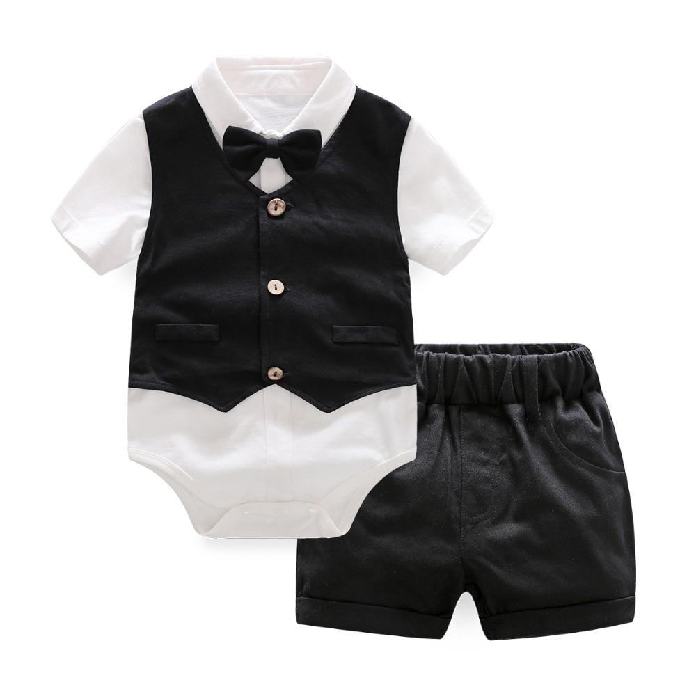 Infant Sets Newborn Skirt Vest Shorts Set Summer Set Baby Boys Clothing Baby Girls Clothes 3 Pieces Sets Black Newborn 12M