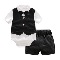 Infant Sets Newborn Skirt Vest Shorts Set Summer Set Baby Boys Clothing Baby Girls Clothes 3 Pieces Sets Black Newborn 12M