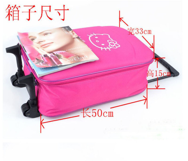 wholesale 5pcs hello kitty 19inch  cartoon luggage trolley luggage  travel bag suitcase