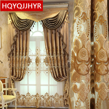 European top royal villa velvet embroidered curtains for living room high quality classic multicolor bedroom