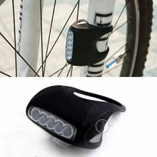 New Cycling Bike Bicycle 7 LED Silicone Super Front Light Safety Lamp Black Wholesale AL0107-A