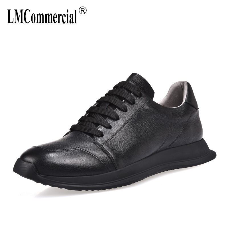 2018 new men s shoes spring autumn summer casual shoes all match cowhide breathable sneaker fashion