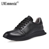 2018 new men's shoes spring autumn summer casual shoes all match cowhide breathable sneaker fashion boots men Leisure shoes male