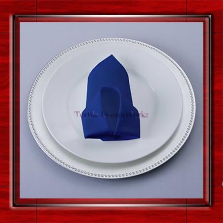 High Quality 45x45cm Royal Blue Polyester Plain Napkin / Table Napkin / Hotel Napkin / Dinner Napkin (Factory Direct Sale)