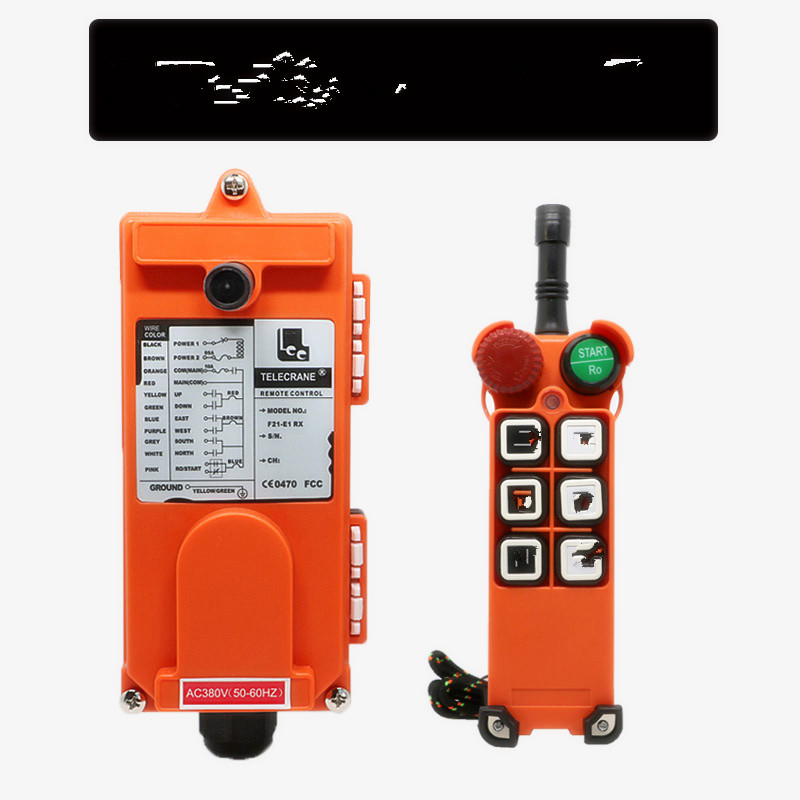 220V F21 E1 1 transmitter 1 receiver 6 buttons 1 Speed Hoist crane remote control wireless radio Uting remote control Switch