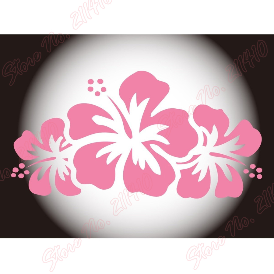Car filler wall sticker decal hibiscus deigo tropical okinawa hawaii car filler wall sticker decal hibiscus deigo tropical okinawa hawaii aloha waterproof removable vinyl art sticker b199 in wall stickers from home garden izmirmasajfo