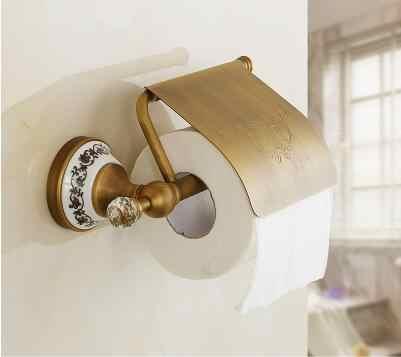 Wszystko miedzi wieszak na ręczniki papierowe pudełko na ręczniki papierowe europejski antyczne akcesoria łazienkowe łazienka sprzętu apartament typu suite