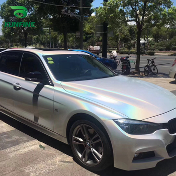 Car Styling Wrap Laser white Car Vinyl film Body Sticker Car sticker With Air Free Bubble For Motorcycle Car Tuning Parts