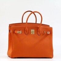 35 см роскошный модный классический 100% натуральная кожа женская сумка из воловьей кожи женская большая сумка клатч сумка через плечо ~ 278