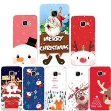 For Samsung Galaxy S9 S8 Plus Case Soft Merry Christmas Back Coque For Samsung A3 A5 2017 J530 Cute Santa Phone Cover Capas