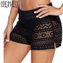 Plus Size Swimwear Lace Shorts Bottom Two Piece Separate Swi