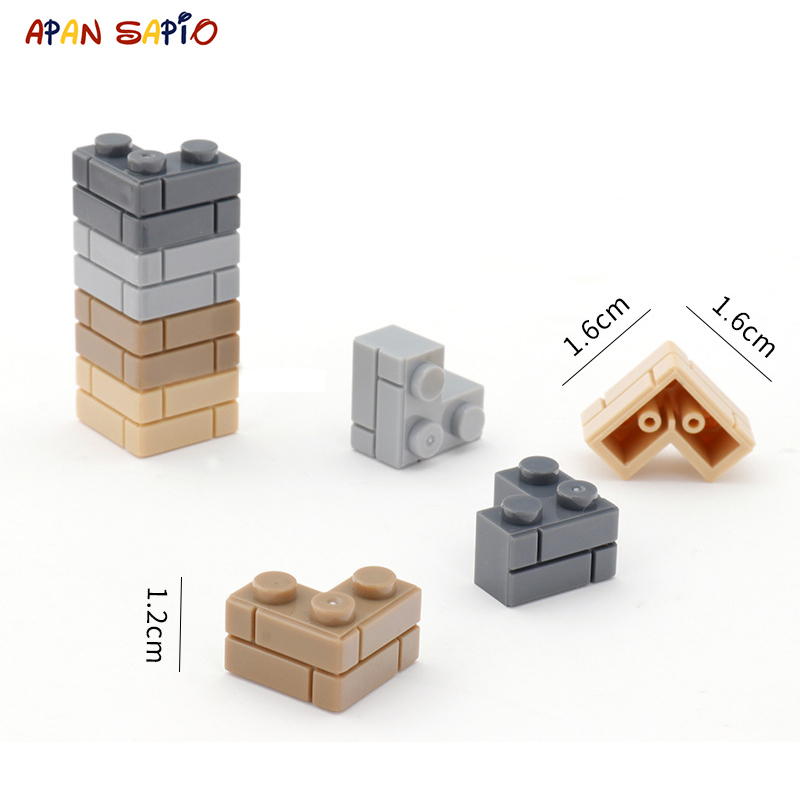 DIY Building Blocks Thick Wall Figures Bricks 1+2 Dots 64PCS Lot Educational Creative Compatible With Legoe Toys For Children