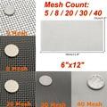6x12 ''5/8/20/30/40 Mesh Edelstahl Woven Tuch Bildschirm Draht filter Blatt-in Werkzeugteile aus Werkzeug bei