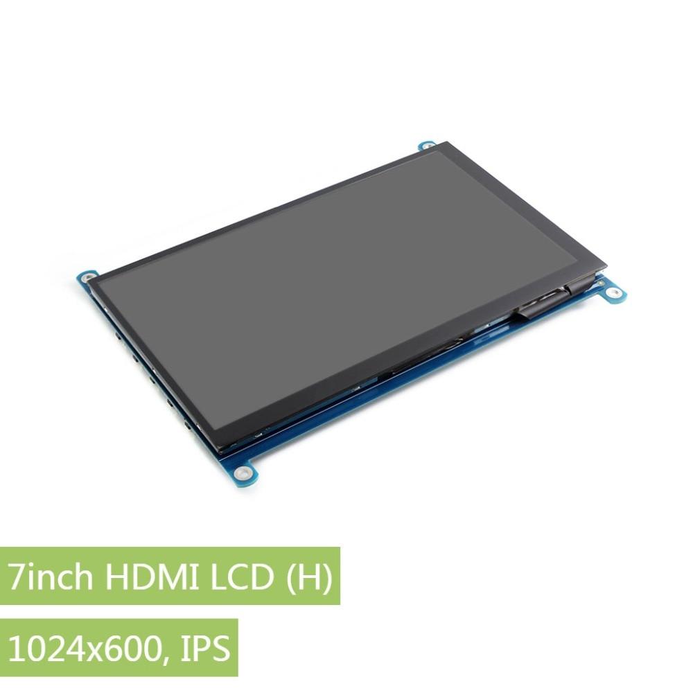 Waveshare 7 pouce HDMI LCD (H) IPS écran d'ordinateur 1024x600 Capacitif Tactile Écran LCD Prend En Charge Framboise Pi BB Noir Banane Pi