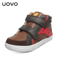 Uovo Brand Suede+PU Leather Ankle Sneakers Size 27 37 Toddler/Teenage School Sport Shoes Spring Autumn Children Casual Shoes