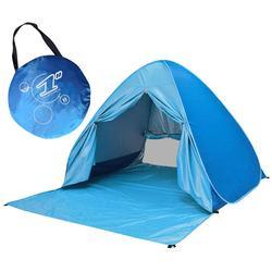 Duża pop Up namiot plażowy automatyczna osłona przeciwsłoneczna Outdoor Cabana parasol słoneczny 2 3 osoby wędkarstwo anty UV Sun Shelter namioty przenośne|Baldachimy|   -