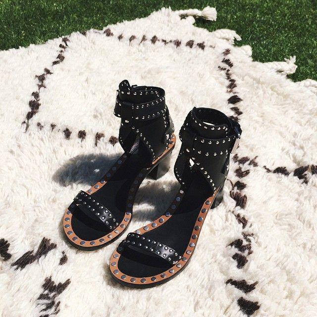 2017 Nuevo Fancy Ankle-Wrap Hebilla Bloque Zapatos de tacón Remaches - Zapatos de mujer - foto 4