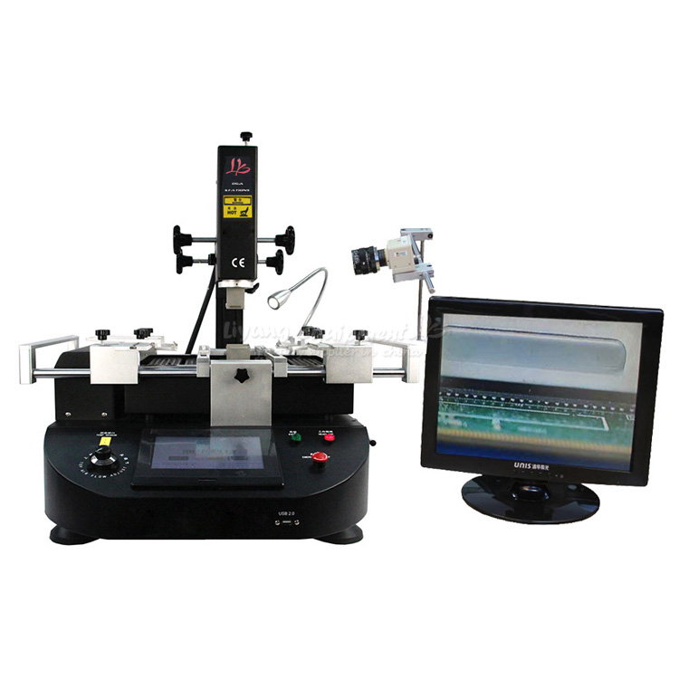 BGA Rework Station LY 5860C hot air 3 zones for Laptop Motherboard Chip Repair 4800W ZM 5860C 4500w ly 5830c lcd touch screen bga rework station soldering machine hot air 3 zones for motherboard chip repairing free tax eu