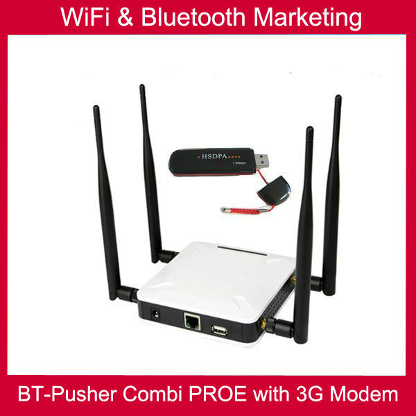 BT-Pusher wifi bluetooth mobiles proximity marketing device with 3G/GPRS, Car charger,4800maH battery FREE wifi hotspot