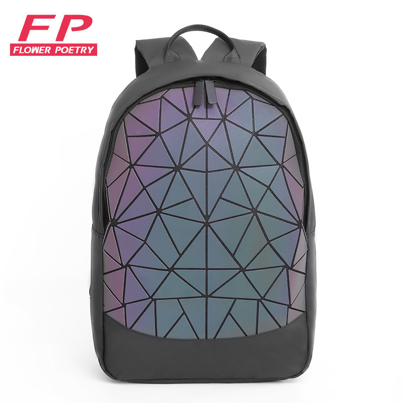 Fashion Women Backpack Men Geometric Luminous Backpack 2019 New Folding Travel Bags For School Back Pack Holographic Backpacks