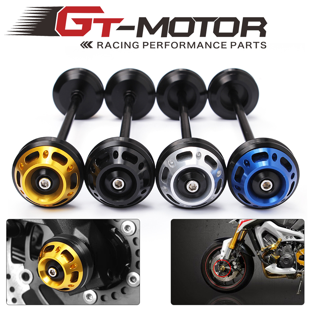 GT Motor-free shipping Motorcycle Sliders Crash Protector Front Axle Slider Frame For YAMAHA MT-09 MT-07 2014 2015 2016