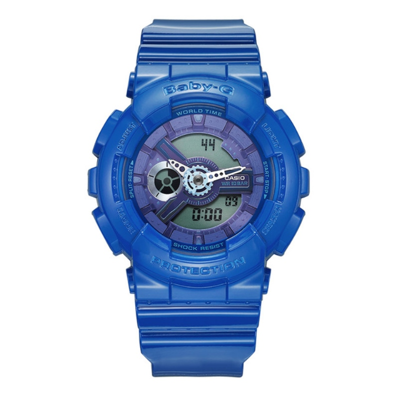 Casio Brand High quality sports Women watch baby-g series outdoor sports waterproof ladies watch blue rubber band BA-110BC-2A casio baby g ba 110bc 1a