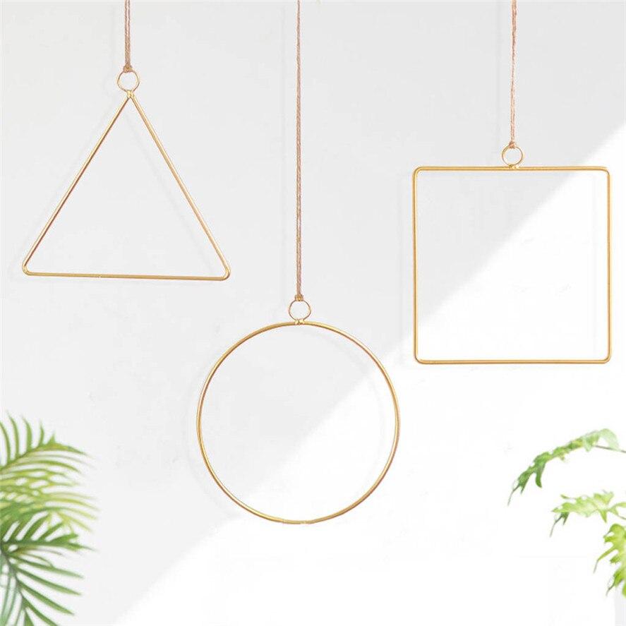 Enthousiast Nieuwe 1 Pc 3d Geometrische Wandmontage Bloem Houder Creatieve Metalen Geometrische Home Decor Nordic Stijl Bruiloft Decoratie Feb21 #30