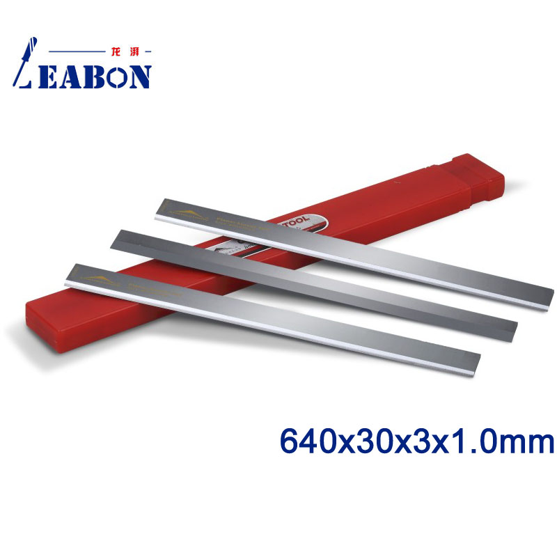 LEABON Good Quality Planer Blades 640x30x3x1.0mm TCT Planer Blades For Rose Wood (A02002048)