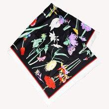 Элегантный бренд ручной работы саржевый шелковый шарф TWIC-69537