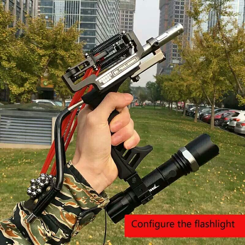 Shooting Arrow Sling Shot Slingshot catapult Hunting Powerful Sling Shot Bow Stainless steel Outdoor Athletic Bow