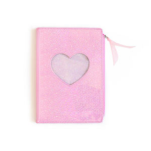 Image 5 - New 2020 Cute Cartoon PU Leather Notebook Laser Heart Diary Personal Diary Week Planner Organizer Note book School Stationery