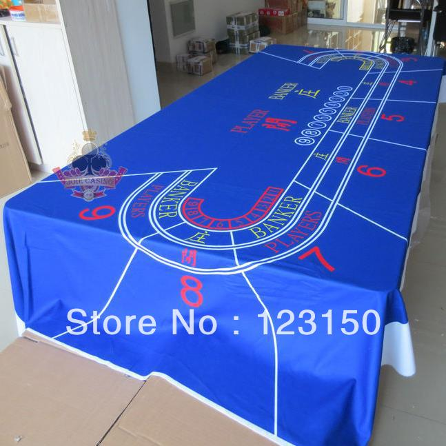 WP-012  Professional Water Resistant Poker Table Cloth,  Casino Layout Game Cloth 1PC