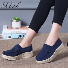 цены Xizi Sneakers Women Flats Women Tassel Platform Shoes Ladies Leather Suede loafers Casual Shoes Slip on Flats Creepers Footwear