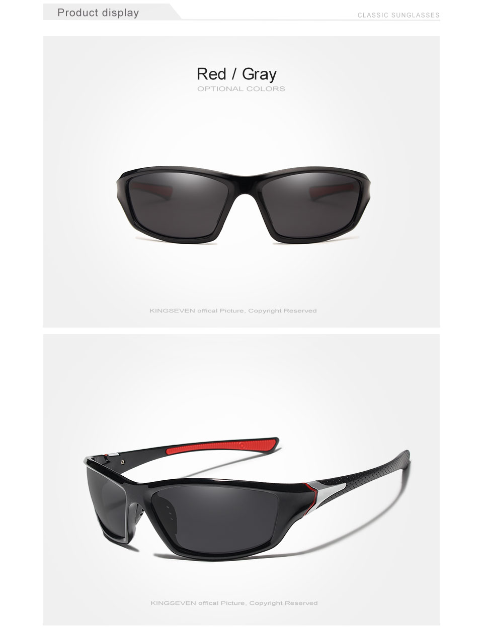 KINGSEVEN Brand Polarized Sunglasses Men Designer Men Sun Glasses Travel Driving Male Square Night Vision Glasses Eyewear