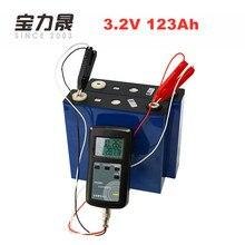 UE EE. UU. libre de impuestos 2 piezas 3,2 V 123Ah lifepo4 batería larga vida útil ciclos 4000 veces 3C solar 6 V 12 V 12 V 12,8 V 24 V 120Ah células no 100Ah RV DC