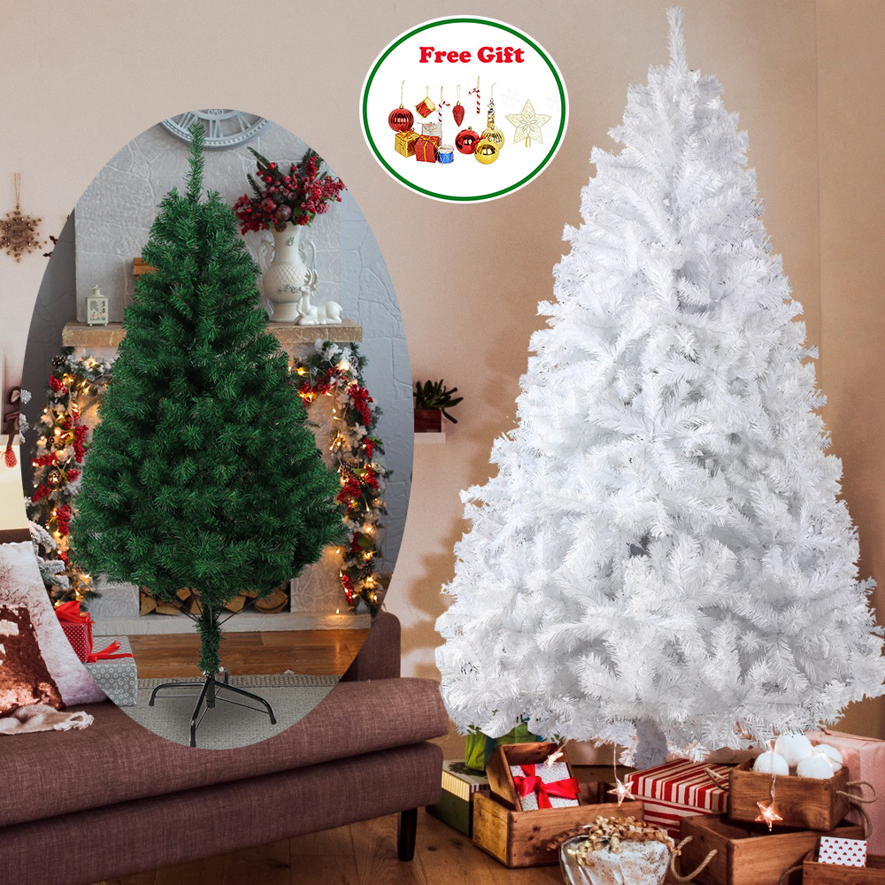 Tall Christmas Tree Decorating Ideas.Us 41 99 1 5 1 8 2 1 2 4m Tall Christmas Tree Pine Tree Home Decoration Christmas Tree Green White In Trees From Home Garden On Aliexpress Com