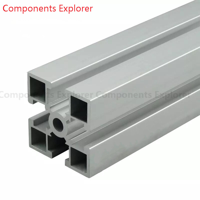 Arbitrary Cutting 1000mm 4040GD Aluminum Extrusion Profile,Silvery Color.