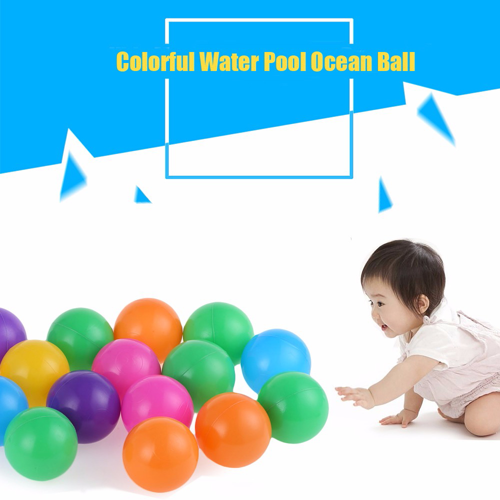 цены High Quality 100Pcs Colorful Ball Ocean Balls Soft Plastic Ocean Ball Baby Kid Swim Toy for Children Gift Ocean Wave Ball Toys