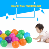 High Quality 100Pcs Colorful Ball Ocean Balls Soft Plastic Ocean Ball Baby Kid Swim Toy For