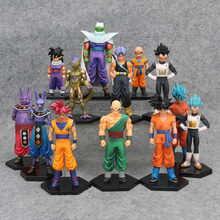 17 estilos Dragon Ball Z Vegeta DBZ Kuririn Goku Son Gohan Piccolo Freeza Trunks Congelar Beerus Figuras de Ação Brinquedos(China)