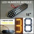 """18 """"желтый цвет 7 сегмент модулей, led numbers signs, led billboard оценка, открытый водонепроницаемый светодиодный экран"""