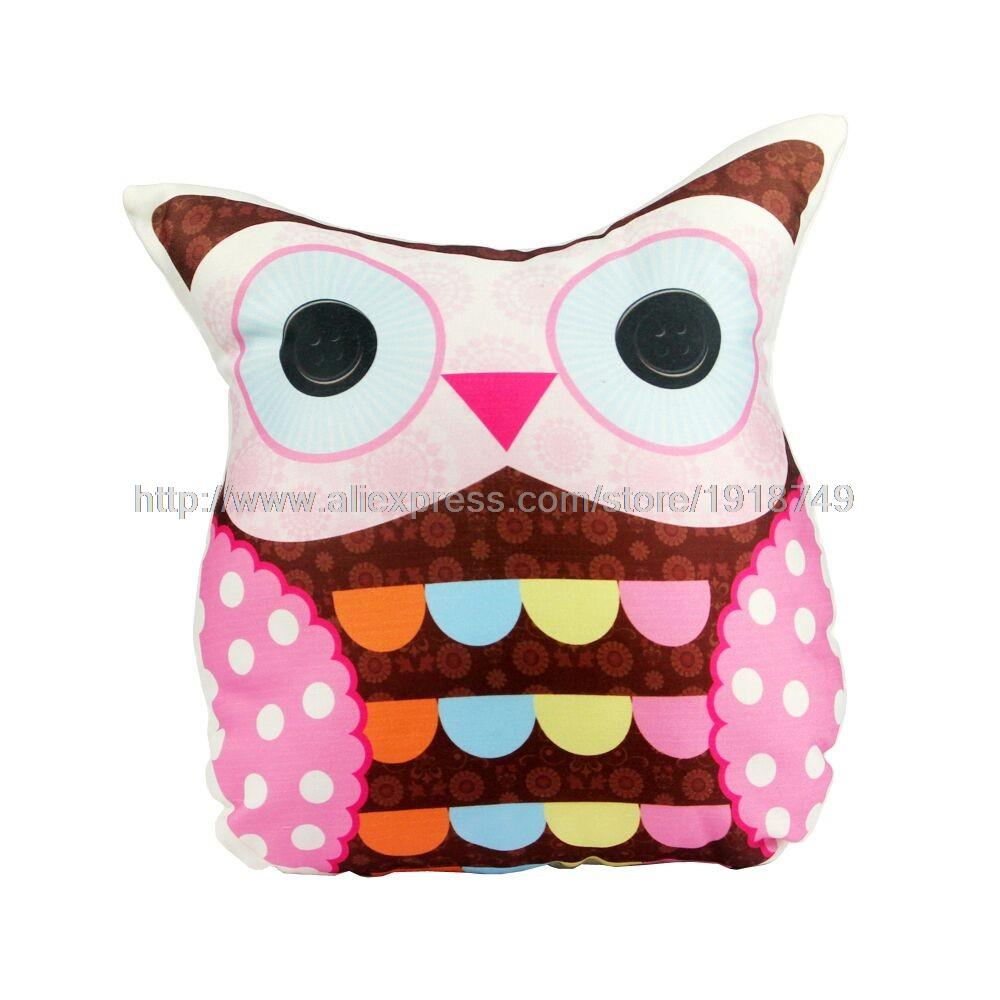 32*36cm Unique Cute Owl Pattern Print Polyester Custom Cushion Home Decor  Pillow Sofa For